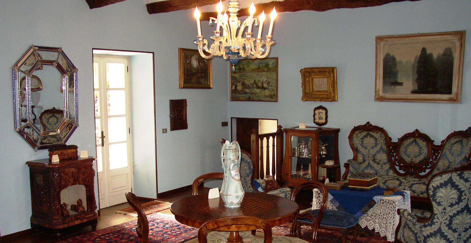 sala azzurra casa museo famiglia allaira